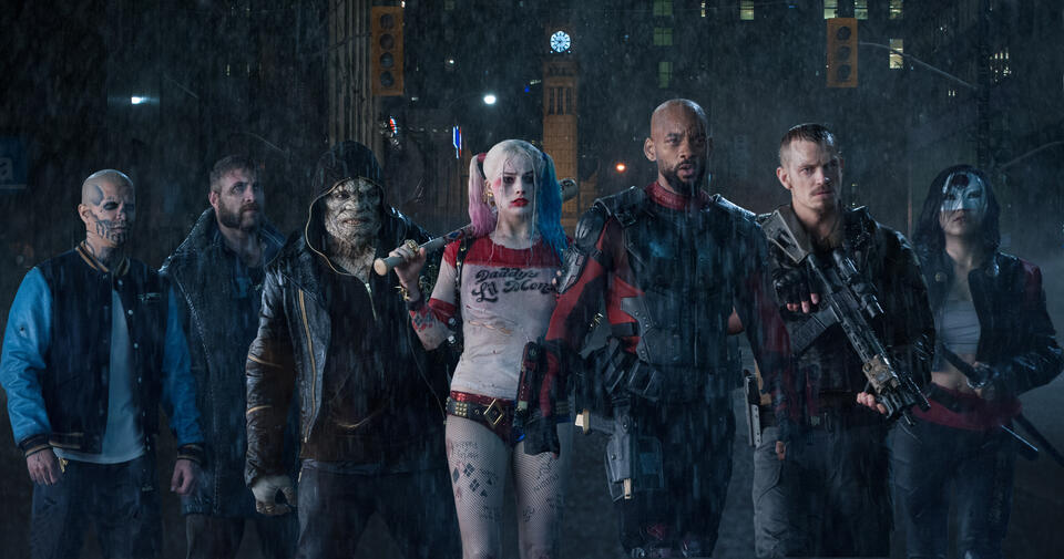 Suicide Squad mit Will Smith, Margot Robbie, Joel Kinnaman, Adewale Akinnuoye-Agbaje, Jai Courtney, Jay Hernandez und Karen Fukuhara