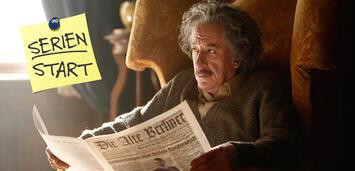 Bild zu:  Genius, Staffel 1: Geoffrey Rush als Albert Einstein