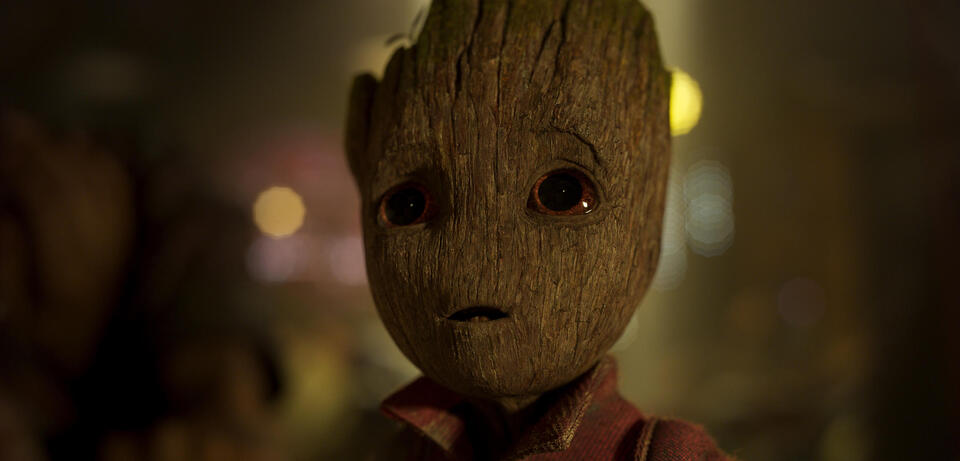 In Guardians of the Galaxy Vol. 2 wirkt Baby-Groot eigentlich zahm