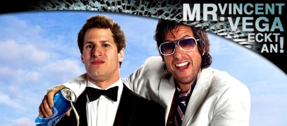 Andy Samberg und Adam Sandler in Der Chaos-Dad