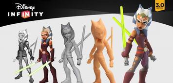 Bild zu:  Ahsoka, eine der weiblichen Star Wars-Figuren in Disney Infinity 3.0