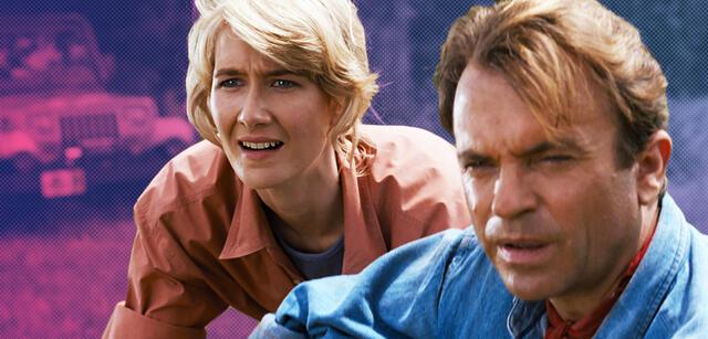 Laura Dern und Sam Neill in Jurassic Park