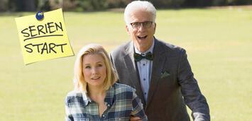 Bild zu:  Sie sind an einem guten Ort: Kristen Bell und Ted Danson