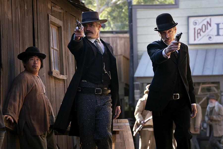 Deadwood mit Timothy Olyphant und John Hawkes