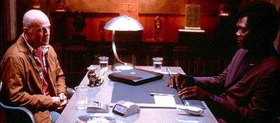 Bruce Willis und Samuel L. Jackson in Unbreakable
