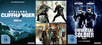 20th Anniversary Uncut Steel Edition von Cliffhanger und Uncut Steel Edition von Universal Soldier
