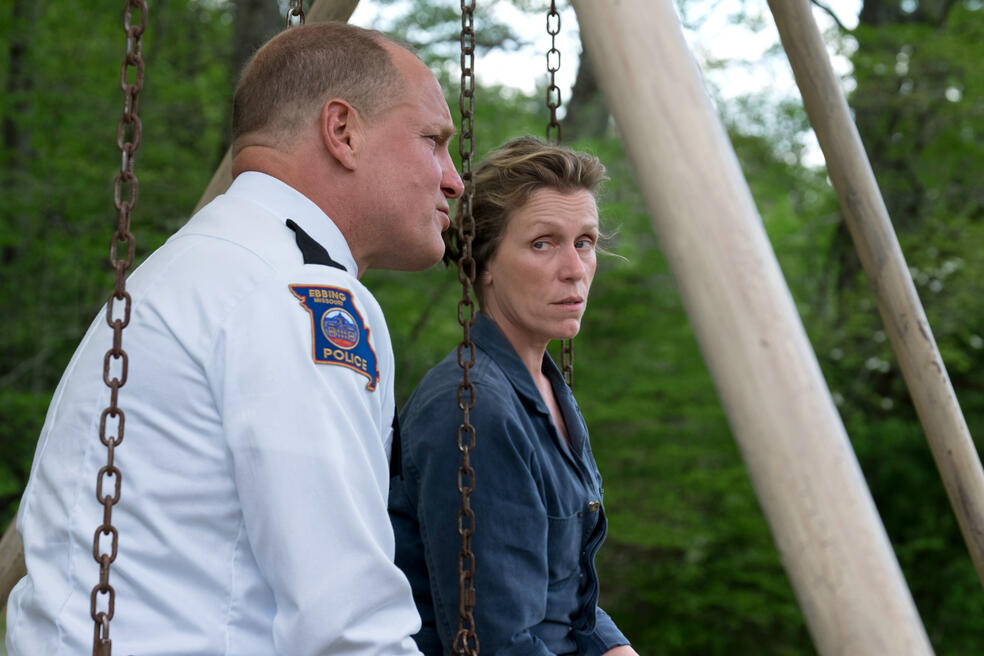 Three Billboards Outside Ebbing, Missouri mit Woody Harrelson und Frances McDormand