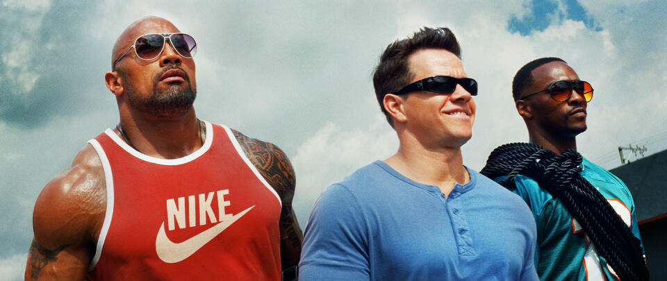 Pain & Gain mit Mark Wahlberg, Dwayne Johnson und Anthony Mackie