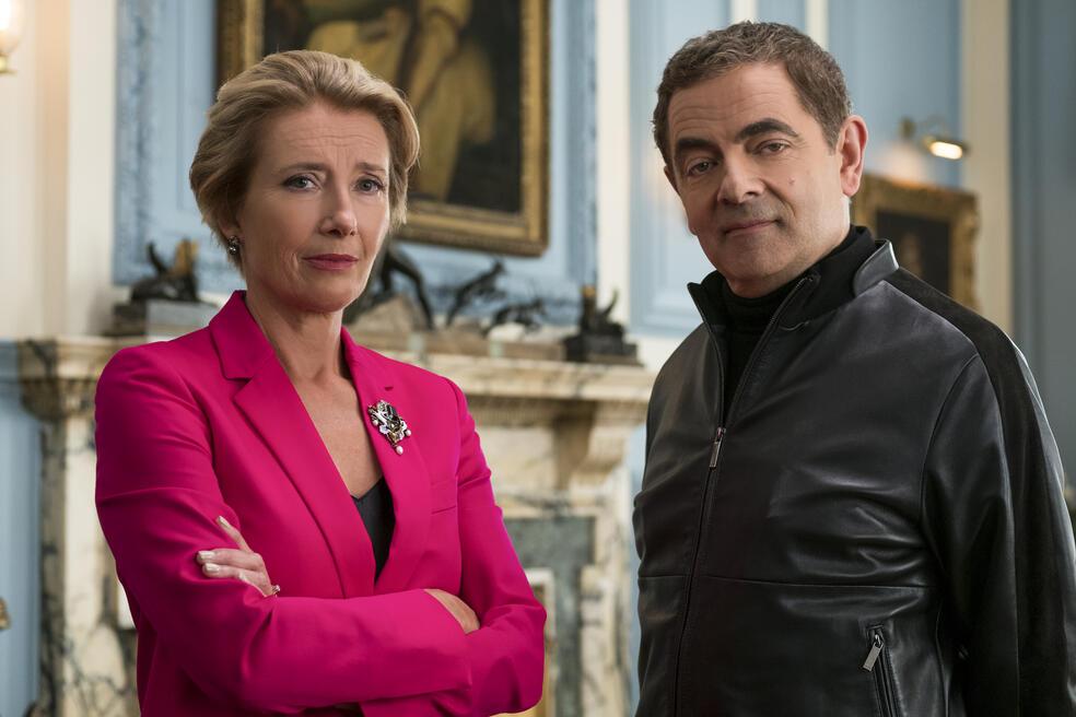 Johnny English - Man lebt nur dreimal mit Rowan Atkinson und Emma Thompson