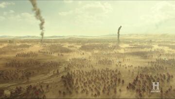 Die weitläufigen Einstellungen der Schlachten in Knightfall sind gelungen.