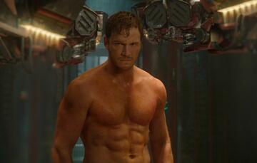 Chris Pratt mit Muskelbrett