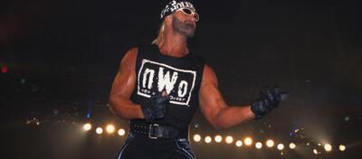 Ein bekanntes Bild: Hulk Hogan in Hollywood-Pose