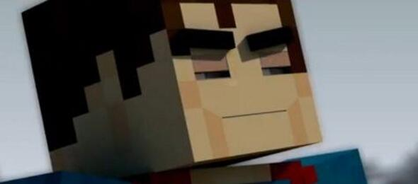 Man of Steel-Trailer im Minecraft-Stil