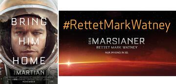 Werbung für Der Marsianer