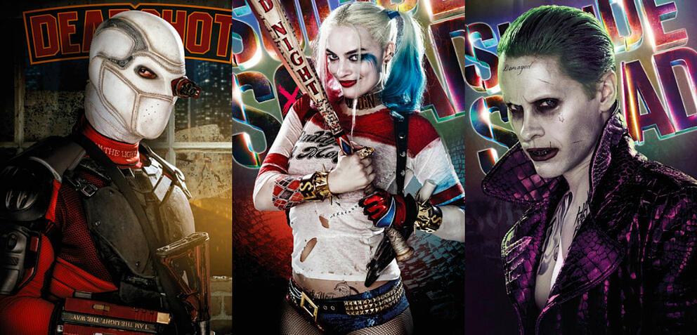 Deadshot, Harley Quinn und Joker