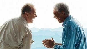 Bild zu:  Jack Nicholson und Morgan Freeman