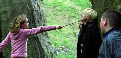 Hermine (Emma Watson) und Draco (Tom Felton) in Harry Potter und der Gefangene von Azkaban