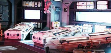 Kälteschlafkammern an Bord der Raumstation in Die wandernde Erde