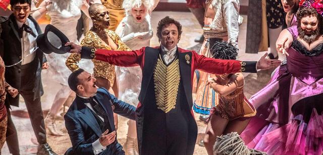 Hugh Jackmann in The Greatest Showman on Earth