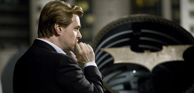 Christopher Nolan am Set von The Dark Knight