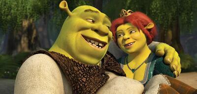 Shrek und seine Herzdame Fiona