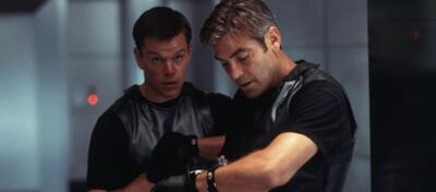 Matt Damon & George Clooney in Ocean's Eleven