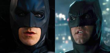 Christian Bale und Ben Affleck als Batman