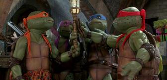 Die Ninja Turtles in der Real-Serie aus den 90ern.