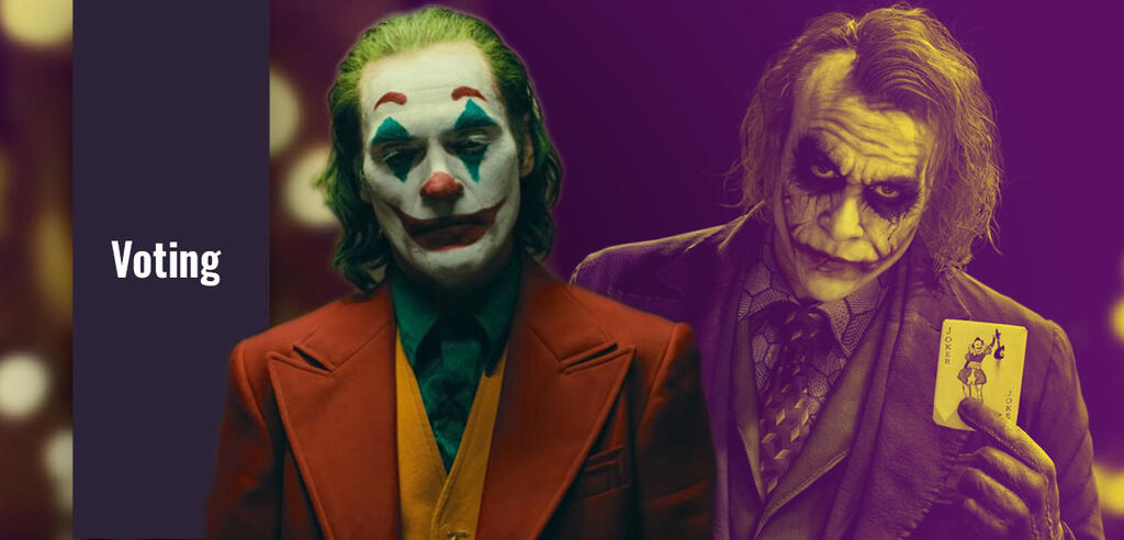 Joaquin Phoenix & Heath Ledger als Joker