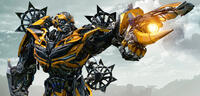 Bild zu:  Transformer Bumblebee inTransformers 5