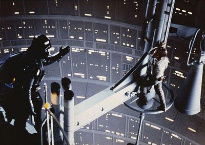 Mark Hamill und David Prowse/James Earl Jones in Das Imperium schlägt zurück