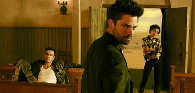 Cassidy (Joe Gilgun), Jesse (Dominic Cooper) und Tulip (Ruth Negga) in Preacher