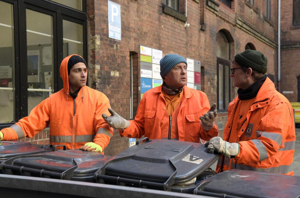 Die Drei von der Müllabfuhr - Dörte muss weg mit Uwe Ochsenknecht, Daniel Rodic, Jörn Hentschel und Rainer Strecker
