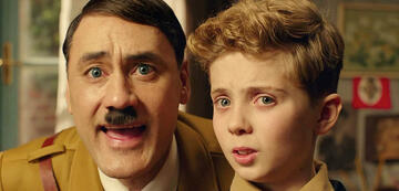 Jojo Rabbit redet mit seinem Hitler