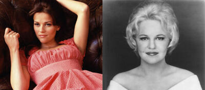 Reese Witherspoon in Walk the Line (l), Peggy Lee (r)