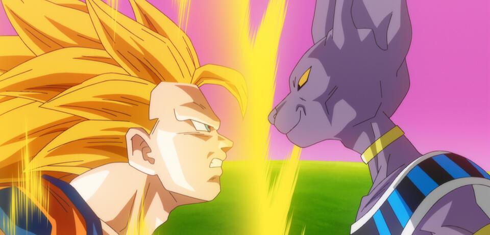 Son Goku und Beerus in Dragon Ball Z: Kampf der Götter