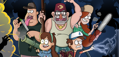 Die Charaktere aus Gravity Falls