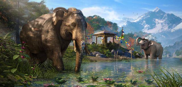 Die heimlichen Stars von Far Cry 4 und gleichzeitig der Ursprung: Elefanten