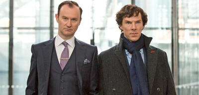 Sherlock Staffel 4 mitMark Gatiss undBenedict Cumberbatch