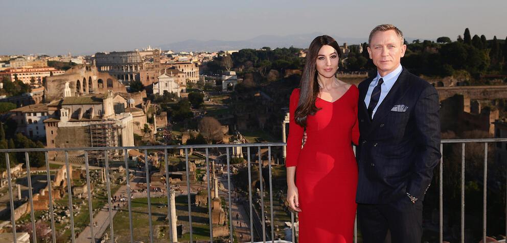 Daniel Craig und Monica Bellucci in Rom