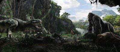 Skull Island-Szene aus King Kong