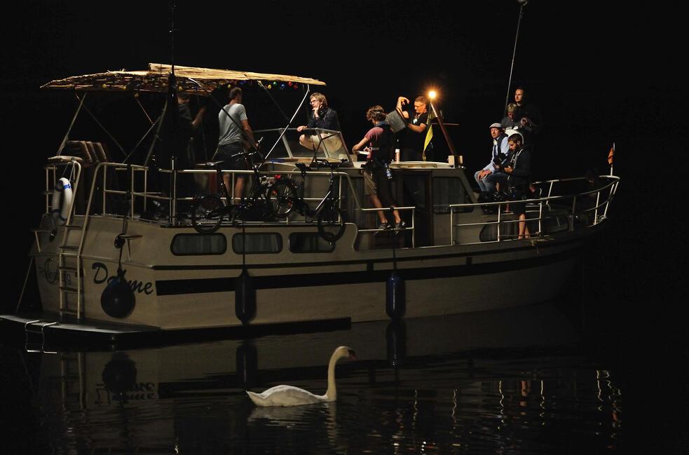 Drei Mann In Einem Boot Besetzung
