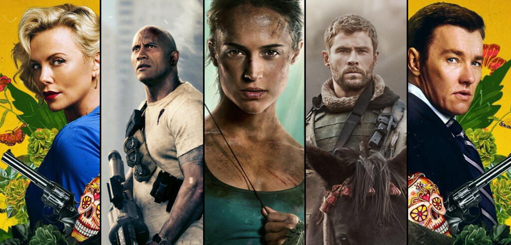 Actionfilme 2018: Gringo, Rampage, Tomb Raider, Operation: 12 Strong