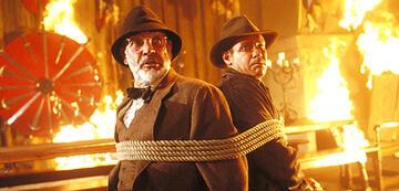 Sean Connery mit Harrison Ford in Indiana Jones und der letzte Kreuzzug