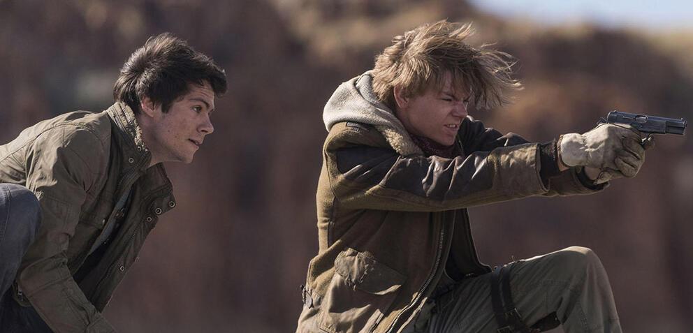 Dylan O'Brien und Thomas Brodie-Sangster in Maze Runner 3