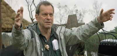 Terry Gilliam am Set von Brothers Grimm