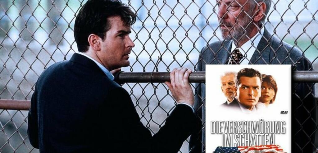 Charlie Sheen und Donald Sutherland fühlen sich von allen Seiten beobachtet.