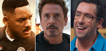 Bild zu:  Will Smith, Robert Downey Jr., Adam Sandler: drei der Großverdiener 2018
