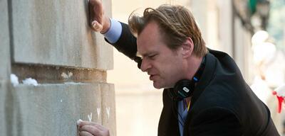 Christopher Nolan bei den Dreharbeiten zu The Dark Knight