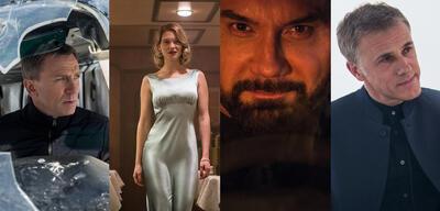 Daniel Craig, Léa Seydoux, Dave Bautista und Christoph Waltz in James Bond 007 - Spectre